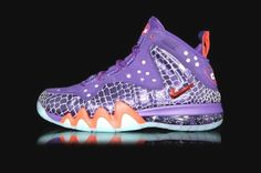5a89f63b79f91 Men Nike Barkley Posite Max Phoenix Suns Court Purple and Team Orange Glow  Shoes