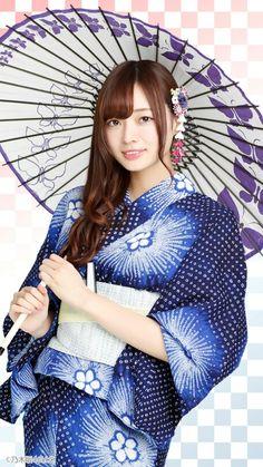 乃木坂46の梅澤美波ちゃんだそうだ。こんなカワイイ娘と浴衣デートしたいなぁ♡