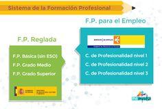 Resultado de imagen de infografia docencia de la formación profesional para el empleo