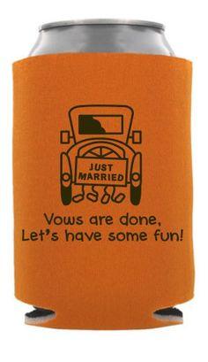 Wedding Can Coolers Beverage Insulators Koozies