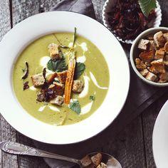 Hlaďoučká hrášková polévka jako z luxusní restaurace