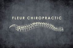 Chiropractic Logo Template - This logo would be perfect for a serious and modern chiropractic practice. The stylish combination of clean type and a cool, dark color palette is soothing.