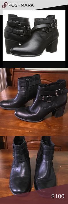Brittney bootie Super soft leather bootie. Zip side & comfy. 7.5 can wear without socks as these are kind of fuzzy inside. Or 7 with socks should fit good. Josef Seibel Shoes Ankle Boots & Booties