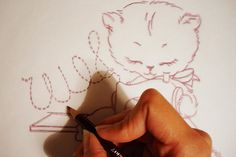 "re-tracing ""Sew"" carefully by floresita, via Flickr"
