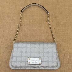 New Kate Spade Silver Clutch. Get the trendiest clutch of the season! The Kate Spade Silver Clutch is a top 10 member favorite on Tradesy. Save on yours before they are sold out!