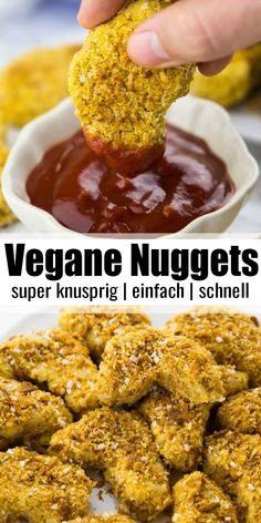 Vegan Chicken Nuggets – Super easy recipe for vegan chicken nuggets. Unlike real chicken nuggets, they are – # Vegan Chicken Nuggets – Super easy recipe for vegan chicken nuggets. Unlike real chicken nuggets, they are – # Healthy Chicken Recipes, Vegan Recipes Easy, Healthy Snacks, Dinner Healthy, Vegetarian Chicken Nuggets, Pasta Recipes, Crockpot Recipes, Soup Recipes, Cooking Recipes