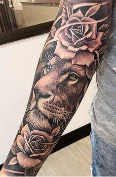 lion tattoo for women / lion tattoo _ lion tattoo for women _ lion tattoo design _ lion tattoo men _ lion tattoo sleeves _ lion tattoo small _ lion tattoo for women sleeve _ lion tattoo for women arm Forarm Tattoos, Forearm Sleeve Tattoos, Dope Tattoos, Best Sleeve Tattoos, Tattoos For Guys, Tiger Forearm Tattoo, Arm Tattos, Key Tattoos, Skull Tattoos