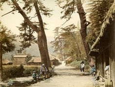Old Asia Photography, purveyors of early East and Southeast Asian photography. Asian Photography, Japanese Photography, Vintage Photography, Old Pictures, Old Photos, Diorama, Japanese Landscape, Japanese Architecture, Japanese History