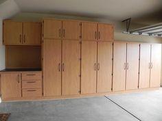Download diy garage cabinets plans Garage, ideas, man cave, workshop, organization, organize, home, house, indoor, storage, woodwork, design, tool, mechanic, auto, shelving, car. #garagestorage