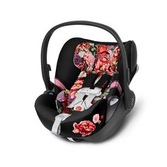CYBEX Cloud Q SensorSafe Spring Blossom - Black Cybex Priam, Travel System, Spring Blossom, Back Seat, Child Safety, Baby Sleep, Kids Wear, Baby Car Seats, Cute Babies