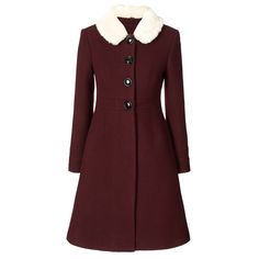 Heavy Wool Fur Collar Coat - If I ever have money, this is on my list of things to buy