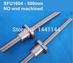47.50$  Buy now - http://alih78.shopchina.info/1/go.php?t=2030874886 - Free Shipping 1pc SFU1604 Ball Screw  500mm Ballscrews +1pc 1604 ball nut without end machined CNC parts  #magazineonlinebeautiful