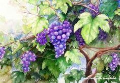0번째 이미지 Watercolor Leaves, Watercolor Paintings, Glass Engraving, Colorful Fruit, Fruit Art, Beautiful Mind, Rice Paper, Art For Kids, Art Drawings