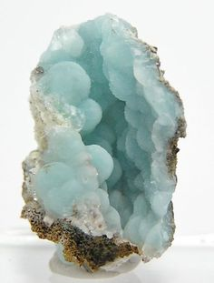 Pastel Blue Hemimorphite with Calcite Druzy 79 Mine Arizona Natural Botryoidal Crystalline Thumbnail Mineral Specimen Cool Rocks, Beautiful Rocks, Minerals And Gemstones, Rocks And Minerals, Dame Nature, Rock Collection, Mineral Stone, Rocks And Gems, Stones And Crystals