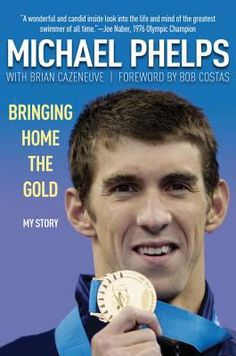 Michael Phelps story, written by Bob Costas, is before Michael breaks the record of most medals won in the Olympics.