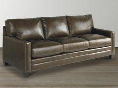 Cocoa Leather Great Room Sofa