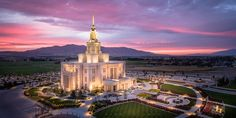 Payson, Utah - LDS Temple (Aerial) by Alan Fullmer