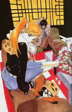 Orihime, Rukia and Chad (Bleach)
