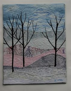 An artist friend of ours is going through a tough time and so I thought I'd make her a quickly little landscape quilt. She is a watercolor p...