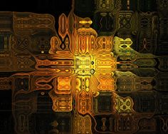 The Midas Touch - digital abstracts by Amanda Moore