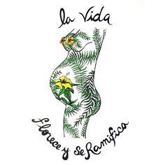 Florecer - Dibujo en tinta - Veronica Reynal
