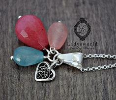 """Joyas de plata - """" Summerlove """" 925 Sterling Silver / Jade - hecho a mano por Ladysworld en DaWanda"""