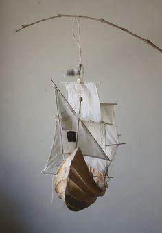 a661ee51c62 ann wood boat mobile - Dawn Treader Narnia Adventure themed nursery if a  boy!