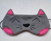 Masque de nuit chat kawaii fait main