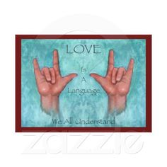 Love Is A Language We All Understand: Sign Language: Pastel Art Stretched Canvas Print