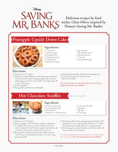 60's style deserts inspired by Saving Mr. Banks!