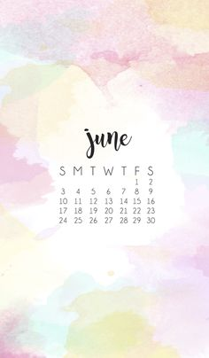 June Smart Phone Wallpaper Calendar 2018