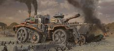 Steampunk Tank Fortress concept.