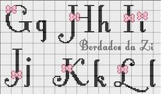 Cross Stitch Letters, Cross Stitch Baby, Graph Paper Art, Embroidery Alphabet, Presents For Friends, Cross Stitch Designs, Perler Beads, Blackwork, Pixel Art