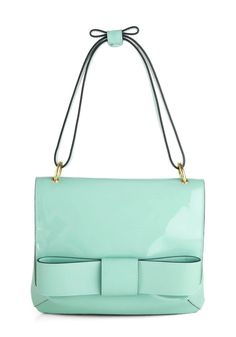 Orla Kiely Winter Daydream Bag by Orla Kiely - Mint, Solid, Bows, International Designer, Luxe, Pastel