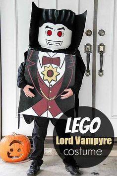 LEGO Lord Vampyre DIY vampire costume idea, see more at http://diyready.com/diy-vampire-costume