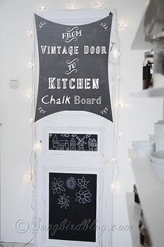 Vintage Door Chalkboard {organisation in the kitchen} - Songbird