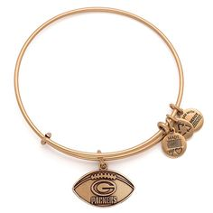 Women's Alex and Ani Gold Green Bay Packers Logo Bracelet