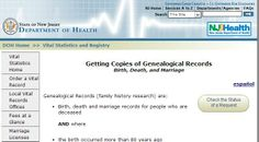 New Jersey Vital records #genealogy http://nj.gov/health/vital/gen.shtml
