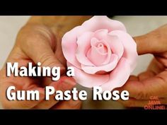 How to Make a Large Rose from Gum Paste | Cake Tutorial | CaljavaOnline.com