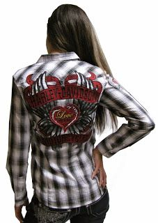 http://www.adventureharley.com/harley-davidson-womens-shirt-hearts-and-wrenches-plaid-convertible-sleeve-shirt