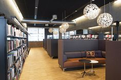 Hamar Public Library, designed by Metropolis arkitektur & design. City Library, Learning Centers, Best Interior, Interior Architecture, Public Libraries, Table, Furniture, Awards, Commercial