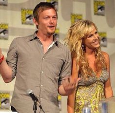 Norman Reedus and Julie Benz, who played Eunice Bloom on Boondocks Saints 2.