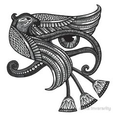 """Eye of Horus (Tattoo Style Tee)"" Stickers by Anita Inverarity 