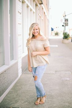 Graceful Off Shoulder Top