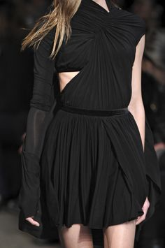 Gathering - structural fabric manipulation with gathered bodice & waist - elegant draping; couture sewing // Alexander Wang