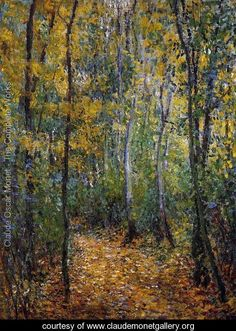 Wood Lane - Claude Oscar Monet - www.claudemonetgallery.org
