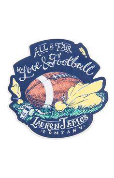 Love and Football Sticker