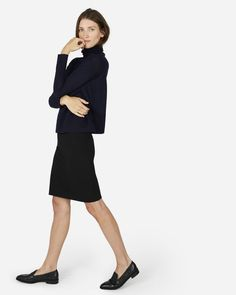 The Stretch Ponte Tube Skirt - Everlane