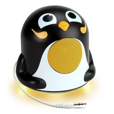 GOgroove Pal Jr Mini Cute Animal Battery Powered Portable Speaker with LED Night Light (Penguin) Speaker for Kids - Passive Subwoofer, Built-in AUX Cable - Plug Into Tablets, Phones, Penguin Love, Cute Penguins, Penguin Craft, Ipad Air 2, Passive Subwoofer, Computer Gadgets, Rules For Kids, Music Speakers, Cool Electronics