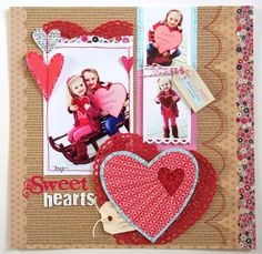 """Sweet Hearts"" Fancy Pants - Scrapbook.com"